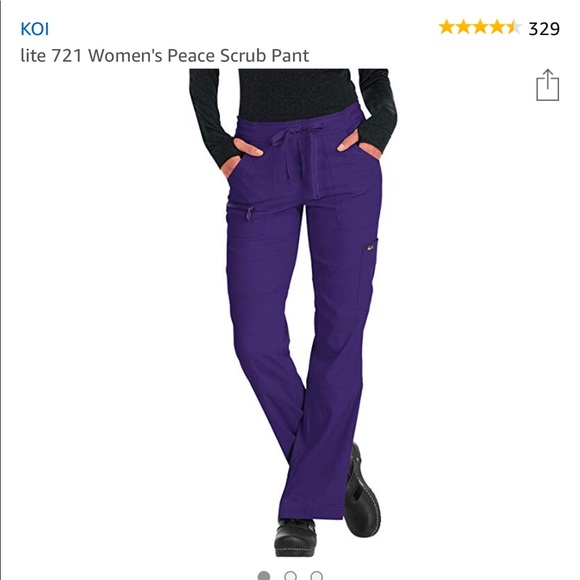 9fadec1ffdb koi Pants | Lite Peace Scrub Color Grape Xs | Poshmark